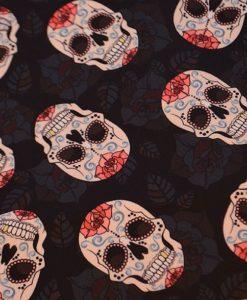 Materiał - różane czaszki