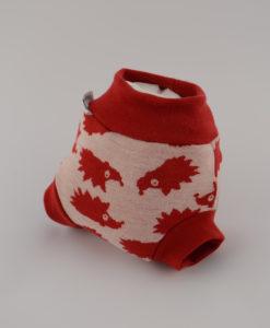 Gatki wełniane czerwony jeżyk